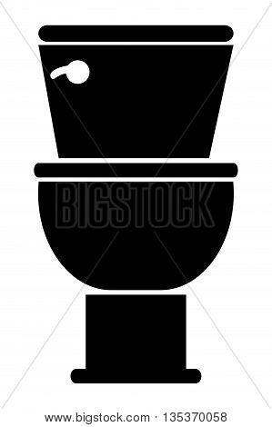 black and white toilet icon vector illustration