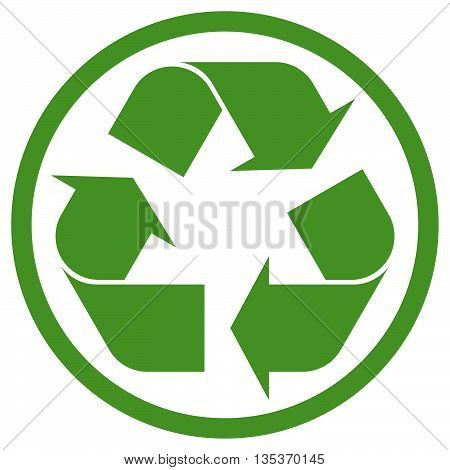 Green Recycling Sign In Circle