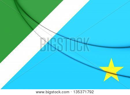 Flag Of Mato Grosso Do Sul, Brazil. 3D Illustration.