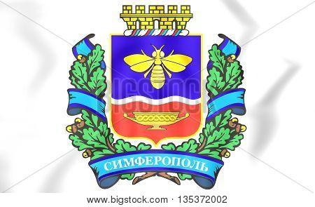 Simferopol Coat Of Arms, Crimea.