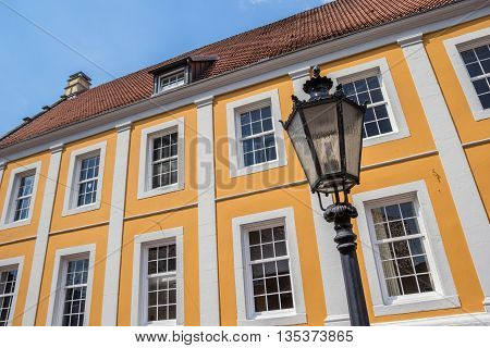 Street Light In Front Of Old Building In Lingen