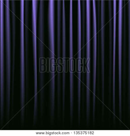 Black and purple curtains closed. Background for your design needs