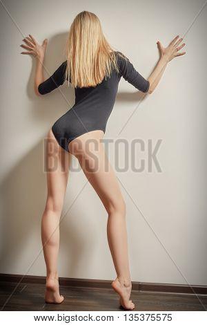 Woman In Black Bodysuit