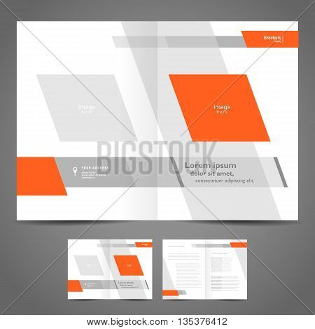 brochure design booklet template vector geometric abstract
