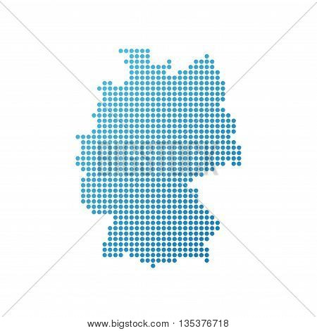 Map of Germany Icon in blue color