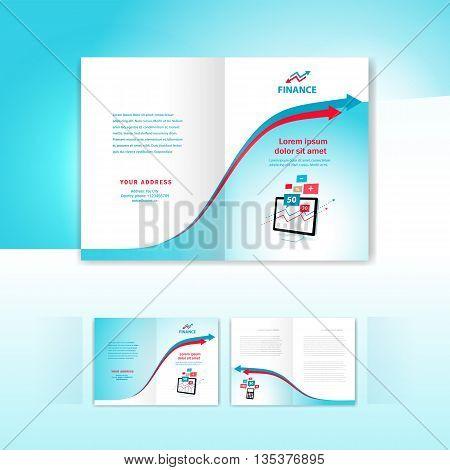 brochure design template booklet business finance arrow element