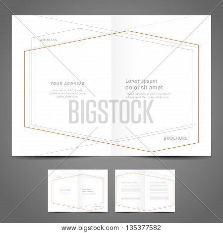 brochure design template - booklet catalog abstract geometric figure line frame