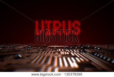 Circuit Board Virus Text