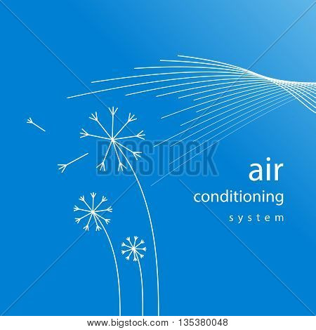 air conditioner conditioning ventilation system abstract background