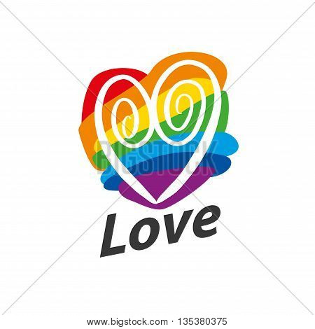 Rainbow heart. Conceptual design for gay and lesbian support symbol. LGBT theme. Vector illustration.