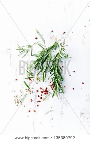 Fresh Rosemary with Pink Peppercorns and Himalayan Salt