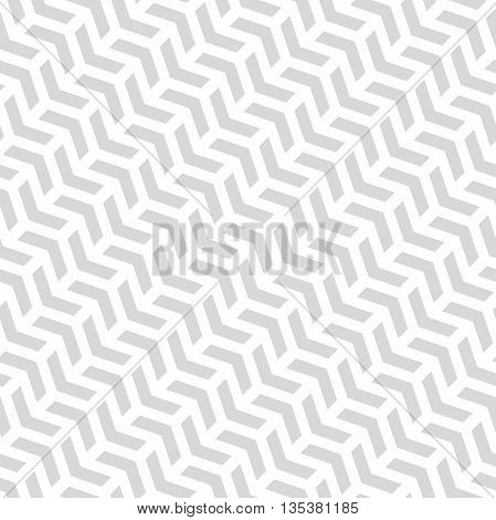 Geometric vector pattern with light silver arrows. Seamless abstract background