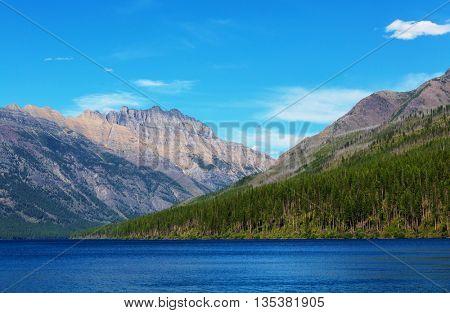 Glacier National Park, Montana, USA. Instagram filter.