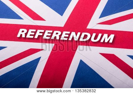 Brexit. referendum. England appearances in the European Union. Closeup of Union Jack flag. UK Flag. British Union Jack flag blowing in the wind.