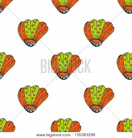 Vector Hand Drawn Shell Illustration. Contour Illustration Shell. Summer Vector Creative Art-work. S