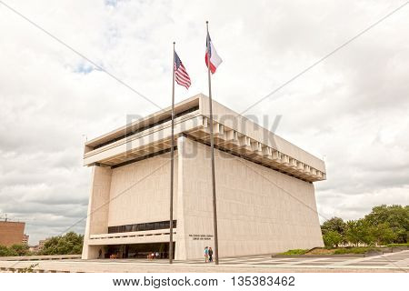 AUSTIN USA - APR 10: The Lyndon Baines Johnson Library and Museum. April 10 2016 in Austin Texas United States