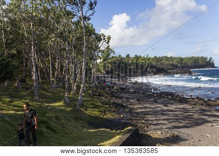 Cap Mechant Coastline, La Reunion Island, France