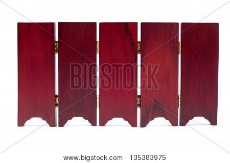 door patition wall chinese style make from wooden and golden plate