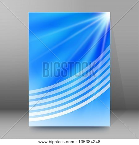 Brochure Cover Template Vertical Format Glowing Background59
