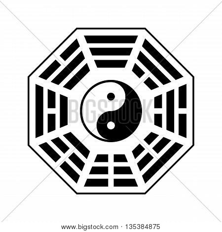 Vector Yin And Yang Symbol. Modern Yin-yang Symbol Isolated On White Background. Fu Xi Earlier Heave