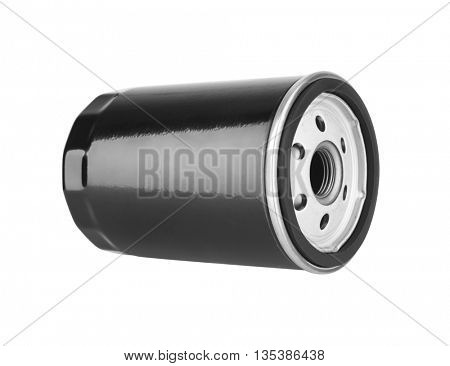 Oil Filter isolated on the white background