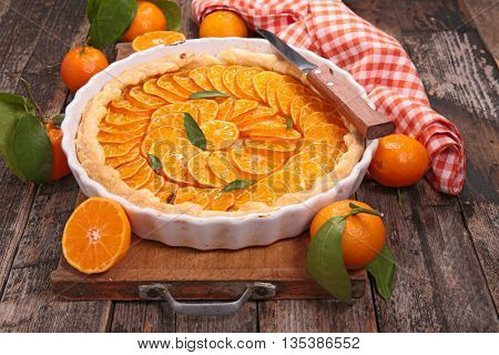 orange or clementine tart