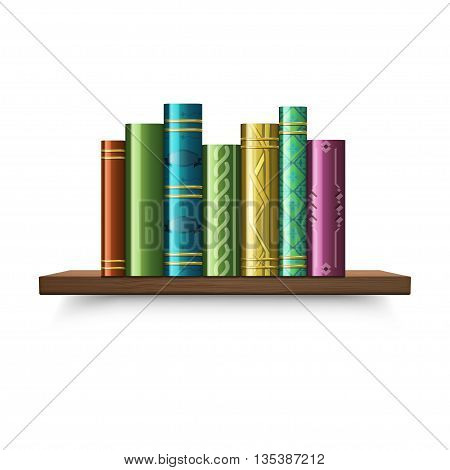 Stack of multi colored book. vector illustration.