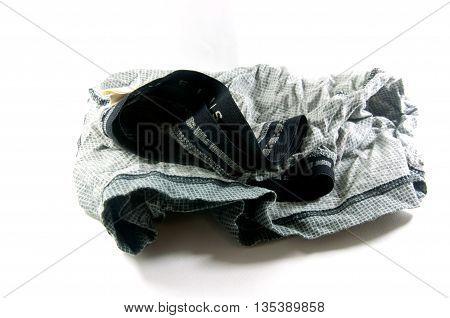 Sleeping shorts or boxers isolated on white background