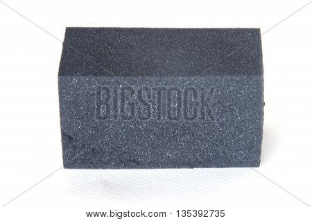 black sponge for cleaning with white background