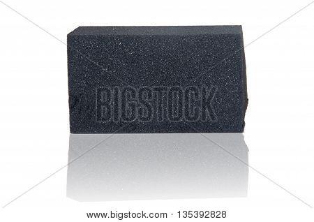 reflection of black Sponge on white background