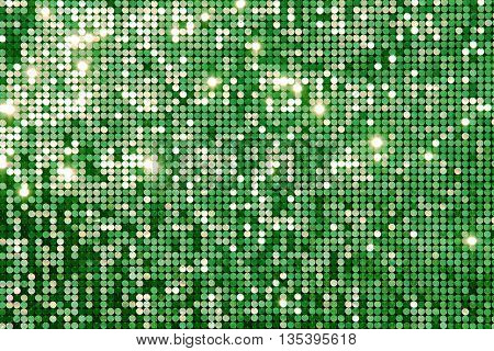 Green background (texture) mosaic with light spots