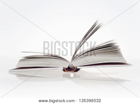 open a white book on white background