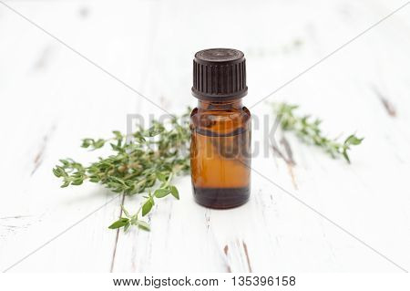 oil of thyme fresh sprigs of thyme