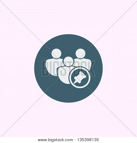 User Pin Icon In Vector Format. Premium Quality User Pin Symbol. Web Graphic User Pin Sign On Blue C