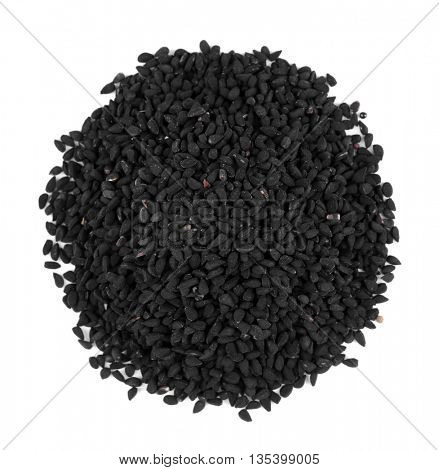 Black cumin isolated on white
