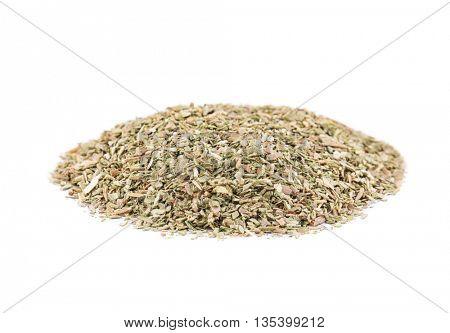 Dried oregano isolated on white
