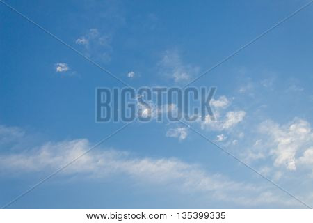 clouds in the blue sky,The vast blue sky and Clouds white fluffy at beautiful,