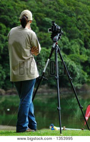 Videowoman At Work
