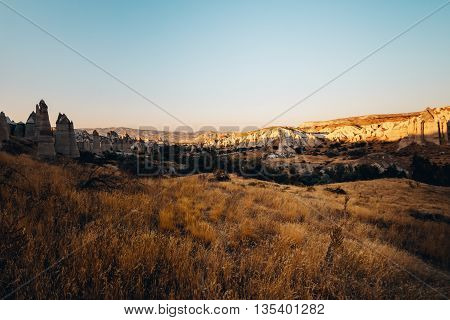 photography of a Valley Rocks and Stones of Cappadocia Turkey