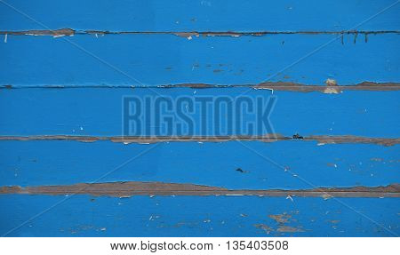 Blue Vintage Painted Wooden Planks Panel