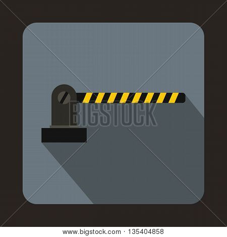 Parking barrier icon in flat style on a gray background