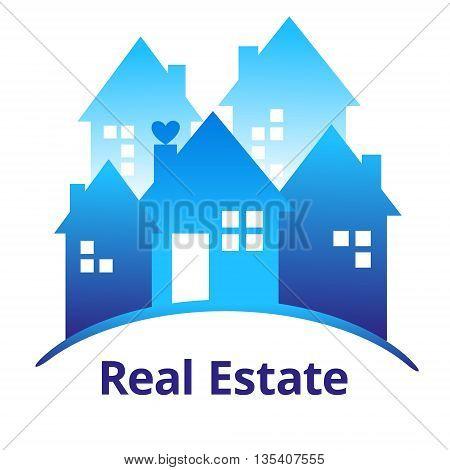 Vector illustration of Real estate design concept.