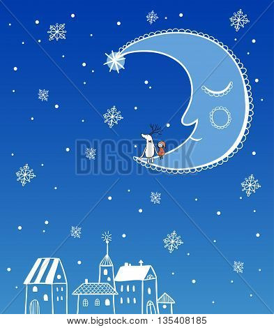 Vector illustration on the theme of the new year.