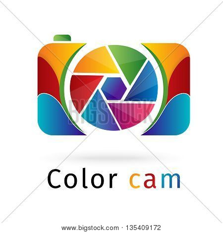 color cam logo design 100% vector re editable and re sizable