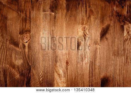 Closeup shot of brown wood plank texture