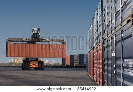 Forklift Handling Container Box