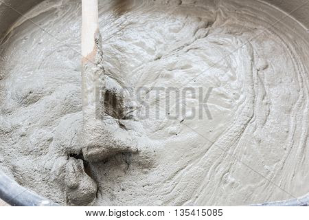 Cement Mix Concrete Is Compacted Sand