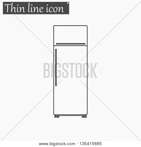 refrigerator icon Vector Style Black thin line