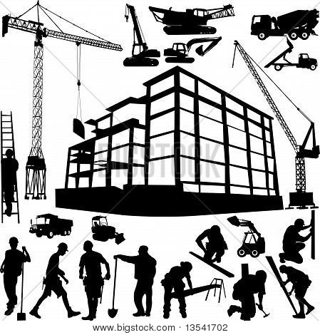 Construction Objects Vector