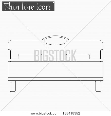 bed icon Vector Style Black thin line